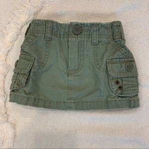 Old Navy Olive Cargo Skirt - Size 6-12M
